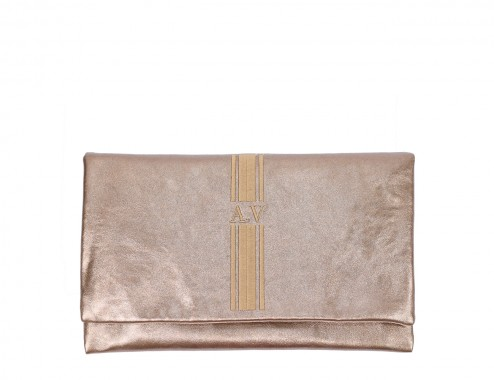 MY CLUTCH  METAL COBRE COMO