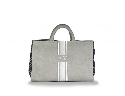 MY MAXI BAG LONA GRIS TOTAL SILVER
