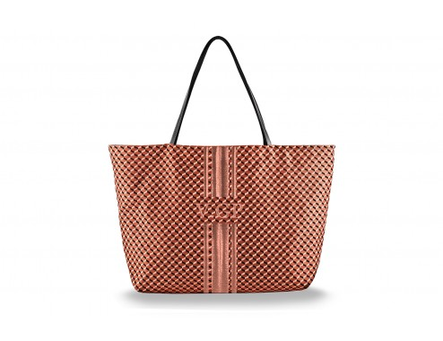 MY SHOPPING BAG CUBIC TEJA TOTAL BRONCE